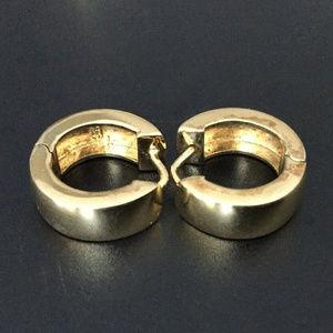 Vintage Gold Wash Sterling Silver Hoop earrings